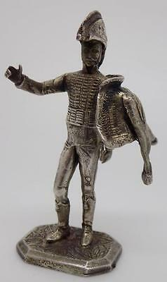 Vintage Solid Silver RARE French (?) Soldier Miniature - Stamped - Made in Italy