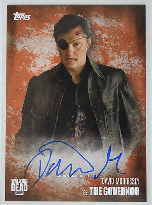 Walking Dead Season 5	Autograph Card David Morrissey as The Governor #54/99