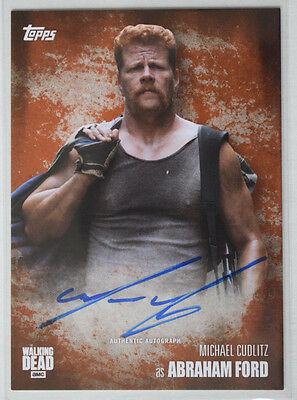 Walking Dead Season 5	Autograph Card Michael Cudlitz as Abraham Ford  8/99