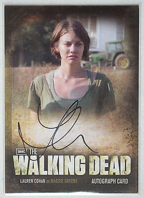Walking Dead Season 2 Autograph Card A9 Lauren Cohan as Maggie Greene