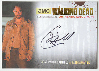 Walking Dead Season 4 Part 1 GOLD Autograph Card JPC2 Jose Pablo Cantillo Caesar