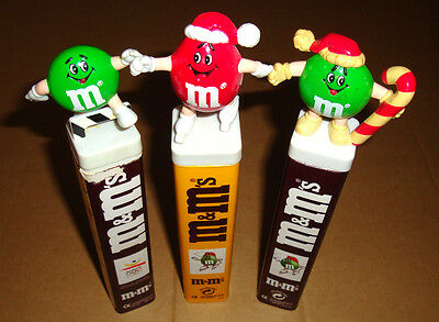 3 Figur M&M's Topper Stopfenfigur Aufsatz Spender Dispenser Sport Winter Olympia