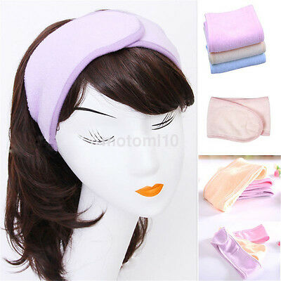 New Unisex Spa Bath Shower Make Up Wash Face Cosmetic Headband Hair Band Simple