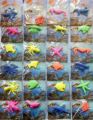 24 PACKS JELLY Growing Sea Creatures Amazing toys kids