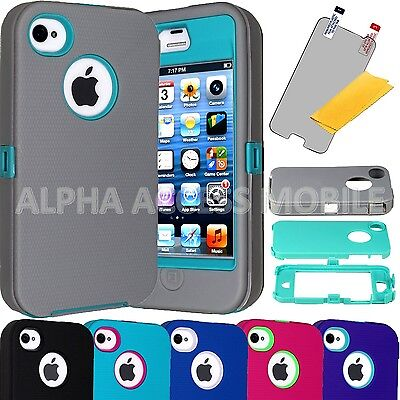 15 TPU Shockproof Defender Hybrid Case Cover Wholesale Lot For APPLE iPhone 4 4S