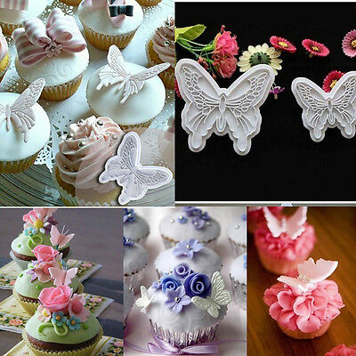 2X Butterfly Wedding Cake Fondant Decorating Sugar Craft Cookie Cutter Mold Tool