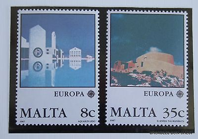 Malta Post Office Card 1987 April Europa Set Of 2  #msp07
