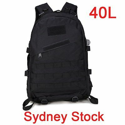 40L Outdoor Tactical Army Military Rucksack Backpack Bag Sport Camping Hiking