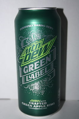 6 x USA Mtn Dew GREEN LABEL 473ml cans