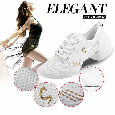Casual Anti-Slip Women Teachers Latin Salsa Jazz Modern Dance Shoes Sneakers OK@