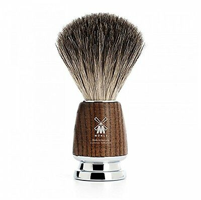 Rytmo Pure Badger Shaving Brush - Ash Wood shave brush by Muhle