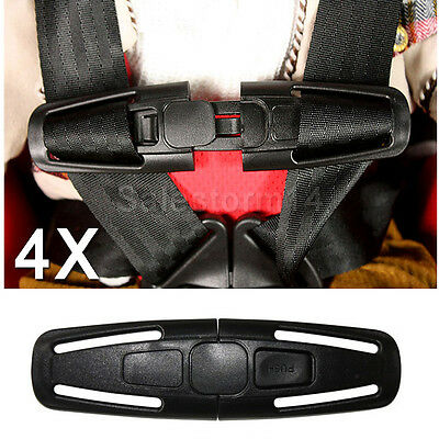 4x Car Baby Safety Seat Strap Belt Harness Chest Clip Child Safe Lock Buckle AU