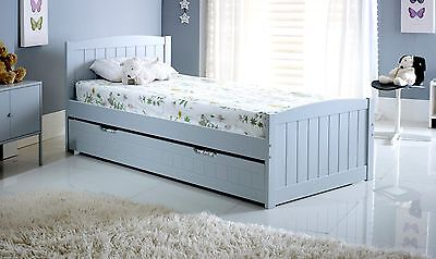 Bedmaster Devon Grey Storage Trundle Guest Bed 3ft