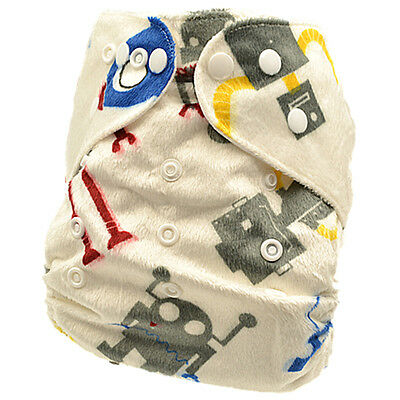 Baby Boy Modern Cloth Nappy Cloth Nappies Cloth Diaper Covers Free Liner (M31)