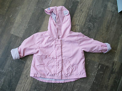 pink next lightweight coat 9-12 months