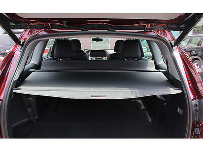 Black Retractable Rear Cargo Trunk Cover For Toyota Highlander 7 Seats 2014-16