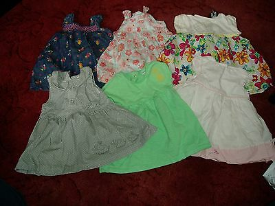 Baby Girl Dresses aged 0 - 3 months (6 items)