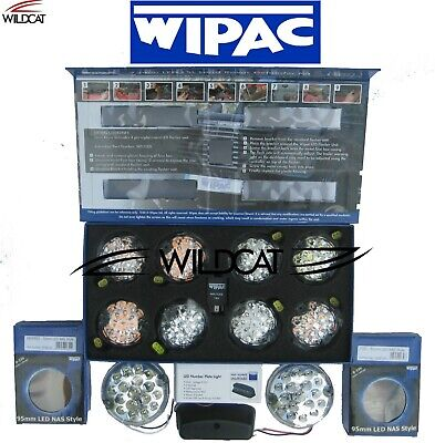 Land Rover Defender Led Wipac Deluxe Clear Upgrade Lamp Light Kit - 11 Lamps
