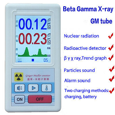 Nuclear Radiation Detector GM Beta Gamma X-ray Monitor Geiger Counter Tester