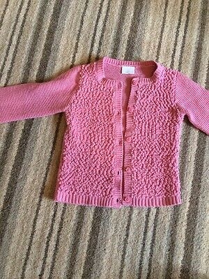 Lovely f+f Pink Cardigan 9-12 Months
