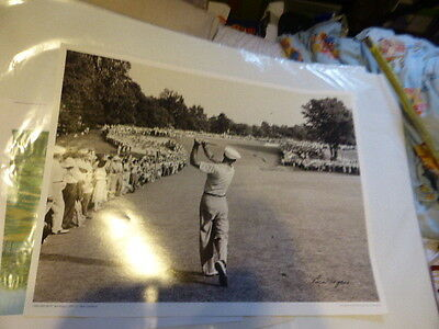1950 one iron Ben Hogan photo by Peskin  Limited Edition print GOLF