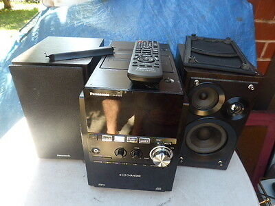 Panasonic SCPM54 MINI HI-FI SYSTEM 5 CD MP3 RADIO CASSETTE AUX