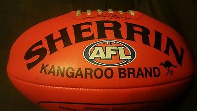 afl sherrin football non-leather