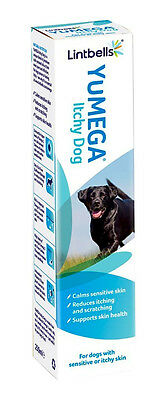 Lintbells YuMEGA Itchy Dog Supplement for dogs with itchy or sensitive skin (250