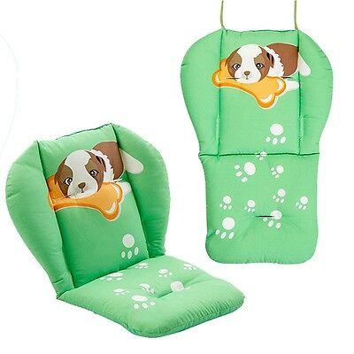New Baby Stroller Seat Liner Cartoon Infant Pushchair Mat Dining Chair Cushion