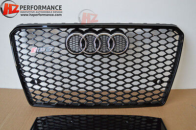 Audi A7 S7 2010 To 2014 Rs7 Gloss Black Grill Grille Honeycomb | Uk Stock |