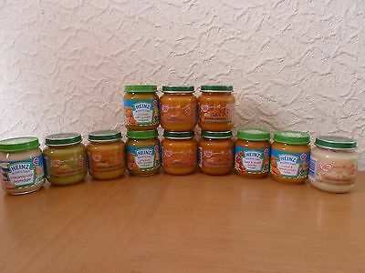 12 x Cow & Gate 125g/Heinz 120g Baby Food Jars, Age 4 Months+ *NEW & SEALED*