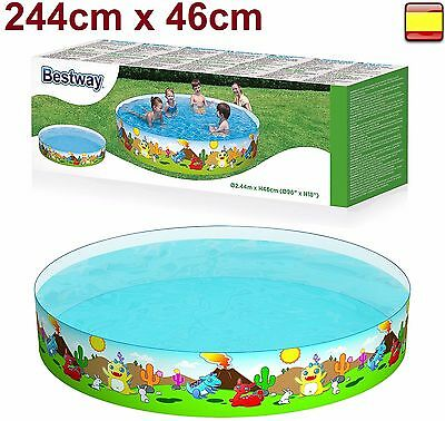PISCINA FAMILIAR TIPO RIGIDA 244cm X 46cm BESTWAY PORTATIL