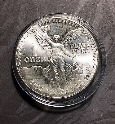 1983 Mexico Libertad 1  Troy Ounce .999 Pure  Silver  Bullion Coin
