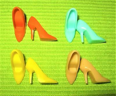 Vintage Barbie Repro For Clothes Yellow Blue Tan Closed Toe Spikes  Shoes Lot