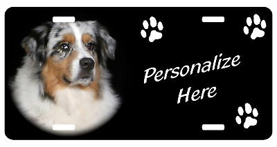 Australian Shepherd, Blue   automobile License plate