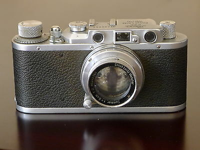 Vintage Leica II,model D chrome camera c.1936 w/50/2 Summar lens.