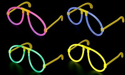 Glow In The Dark Glasses Mix Neon Glow Stick Hen Party Festival Fancy Dress