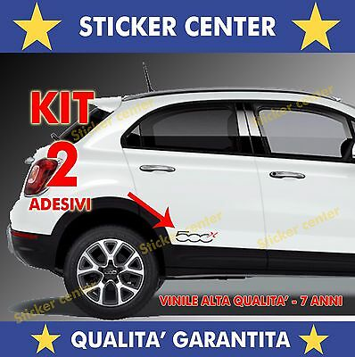 Kit 2 Adesivi Sportello Porta Door Fiancata Fiat 500X 500 X Bicolore Sticker