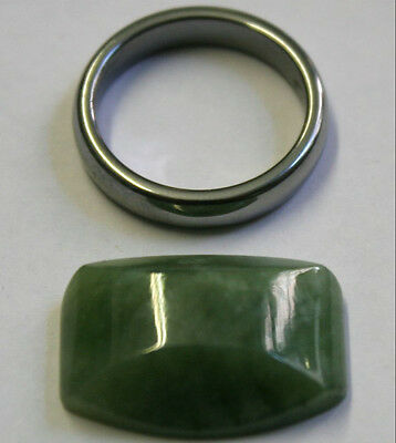Natural Green Jade Loose Gemstone 16X22Mm Fancy Cut Cabochon 20.8Ct Gem Ja47