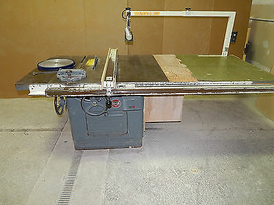 """Delta Rockwell 12/14"""" Table Saw, 5HP, 440 3-Phase, Biesenmeyer T-Square Fence"""
