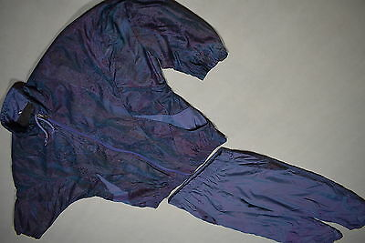 Trainings Anzug Track Jump Suit Vintage Bad Taste Nylon Glanz Shiny Karneval 42