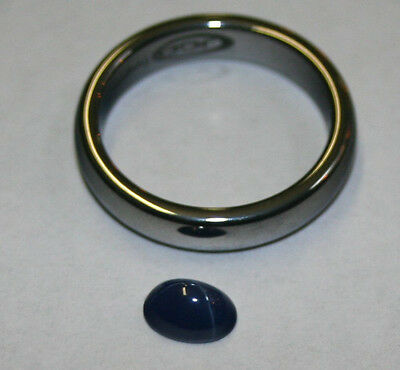 Lab Grown Dark Blue Star Sapphire Loose Gemstone 5X7 Oval 1.2Ct Gem Sa53