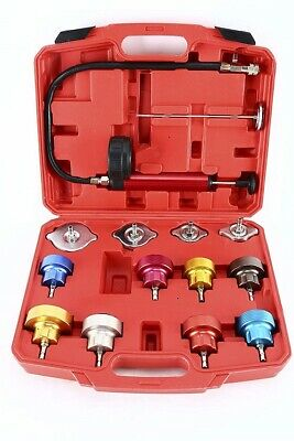 14pc Radiator Pump Pressure Leak Tester Water Tank Detector Kit Aluminum Adapter