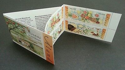 Aland Meals 2002 Food Cuisine Flower Cake Vegetables Fish Coffee (booklet) MNH