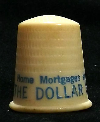 The DOLLAR SAVING BANK Pittsburgh PA plastic thimble