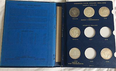 1935-1965 Canadian Silver Dollars. 22 Coins In Whitman Album