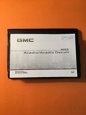 2012 GMC Acadia/Acadia Denali Owners Manual with Case [03528]