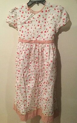 Girls Landsend Spring/summer Floral Dress, Size 14 Lands End Short Sleeve Modest