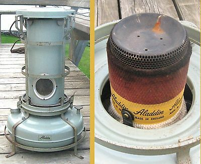 Vintage 1960 Aladdin Blue Flame Heater In England With It Wick No. F.150051