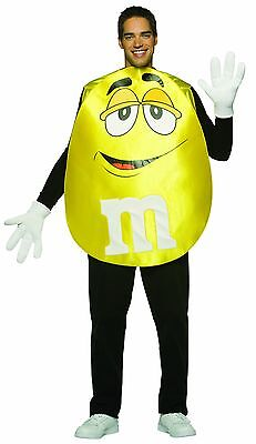 M&M Candy Yellow Poncho Costume Adult Standard